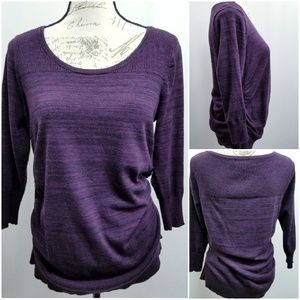 Maurices Plus Size Sweater w Ruching 0/14